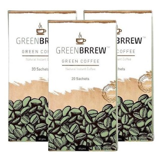 GreenBrrew Green Coffee (Pack of 3),  20 sachets/pack