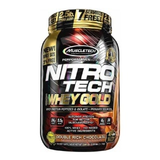 MuscleTech Nitro Tech Whey Gold Performance Series,  2.25 lb  Double Rich Chocolate