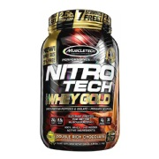 MuscleTech Nitro Tech Whey Gold Performance Series,  2.5 lb  Double Rich Chocolate