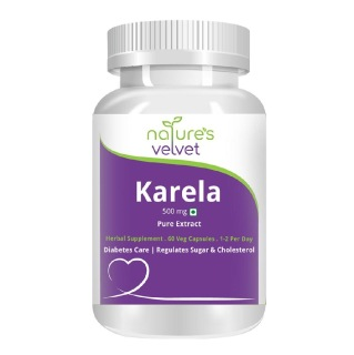 Natures Velvet Karela Pure Extract (500 mg),  60 veggie capsule(s)
