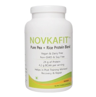Novkafit Pure Pea + Rice Protein Blend,  2 lb  Mango