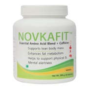 Novkafit Essential Amino Acid Blend + Caffeine,  0.44 lb  Lemon