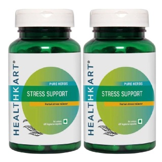 HealthKart Stress Support 60 capsules - Pack of 2