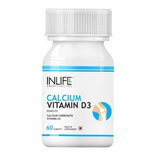 INLIFE Calcium+VD3,  Unflavoured  60 tablet(s)