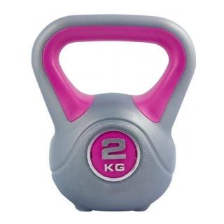KOBO Kettlebell (KB-2),  Grey & Pink  2 kg