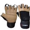 KOBO Gym Gloves (WTG-02),  Brown & Black  Medium