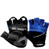 KOBO Gym Gloves (WTG-04),  Blue & Black  Small