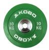 KOBO Bumper Plates 51mm,  Green  10 kg