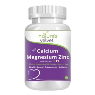 Natures Velvet Calcium Magnesium Zinc,  60 tablet(s)  Unflavoured
