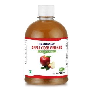 HealthViva Apple Cider Vinegar 100% Natural,  0.5 L  Unflavoured