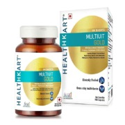 HealthKart Multivit Gold 5-in-1-MultiVitamin,  Unflavoured  90 capsules