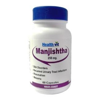 Healthvit Manjishtha 250Mg,  60 capsules