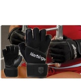 Harbinger Women Training Grip Wrist Wrap Gloves,  Black  Medium