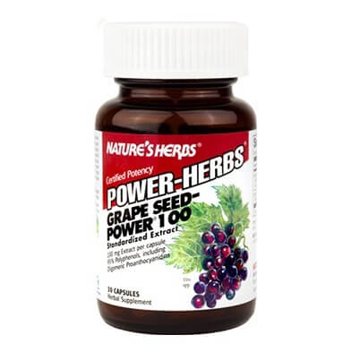 Nature's Herbs Grape Seed Power,  30 capsules