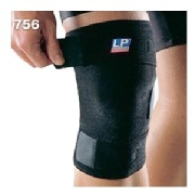 LP Support Knee Support Closed Patella (756),  Black/Blue  Free Size
