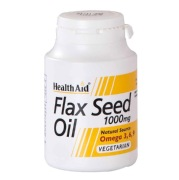 Health Aid Flaxseed Oil 1000 Mg  (Buy 1 Get 1 Free),  60 Capsules